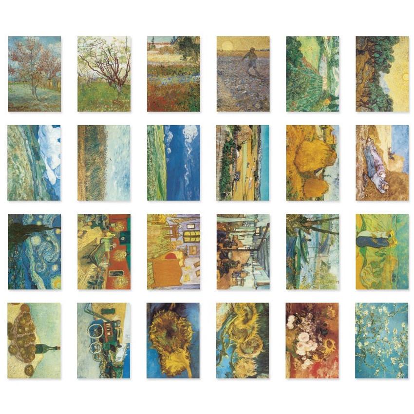 NACOO Vincent van Gogh label sticker set