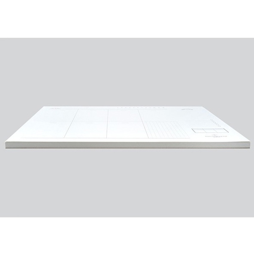 120gsm paper - Plain dateless weekly desk planner pad