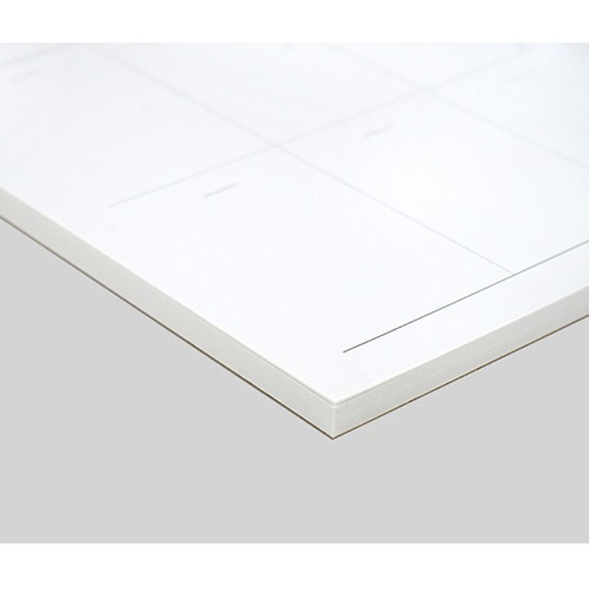 53 sheets - Plain dateless weekly desk planner pad