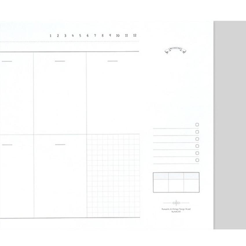Weekly checklist - Plain dateless weekly desk planner pad