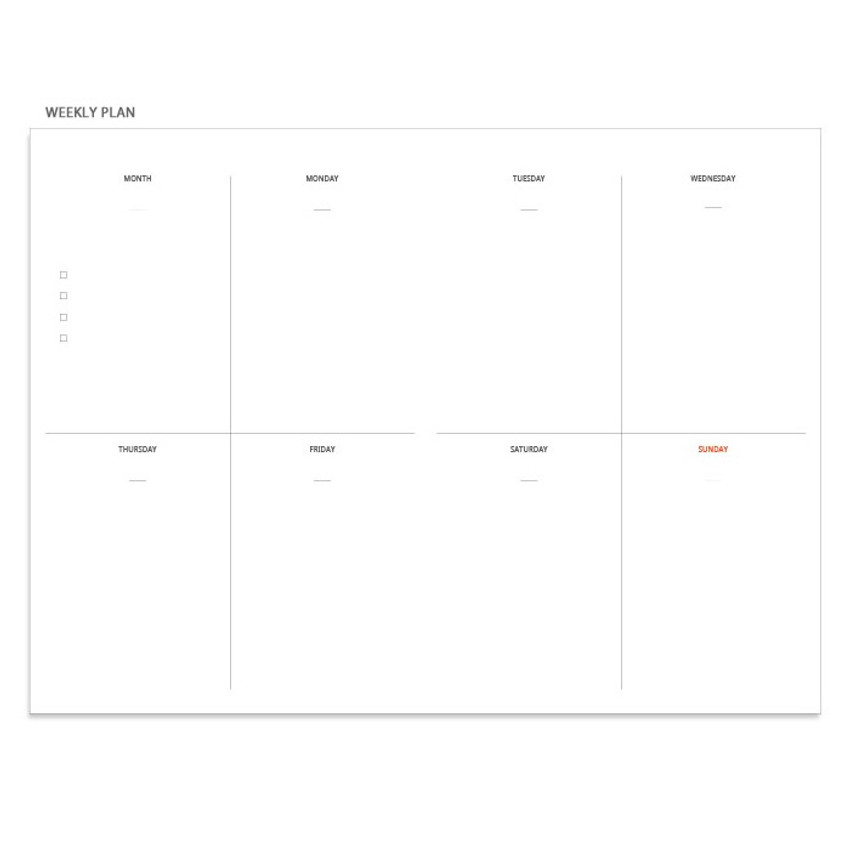 Weekly plan - Pour vous fruit undated weekly diary planner