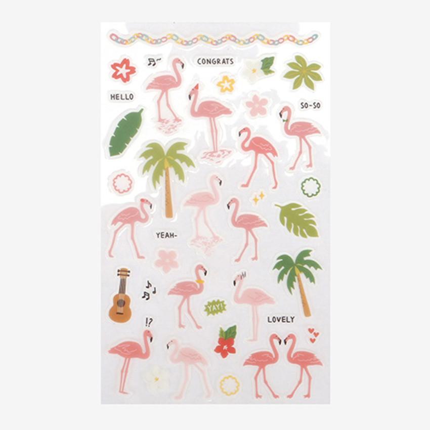 Daily transparent sticker - Flamingo