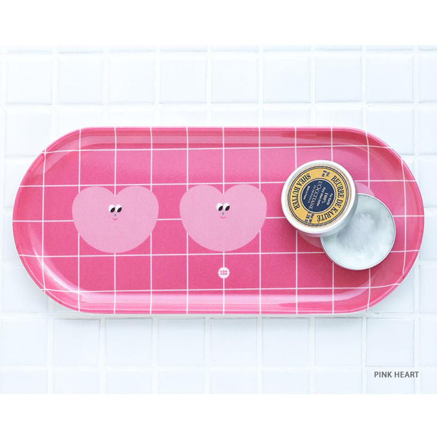 Pink heart - Livework Smart organizer basic pencil pen tray