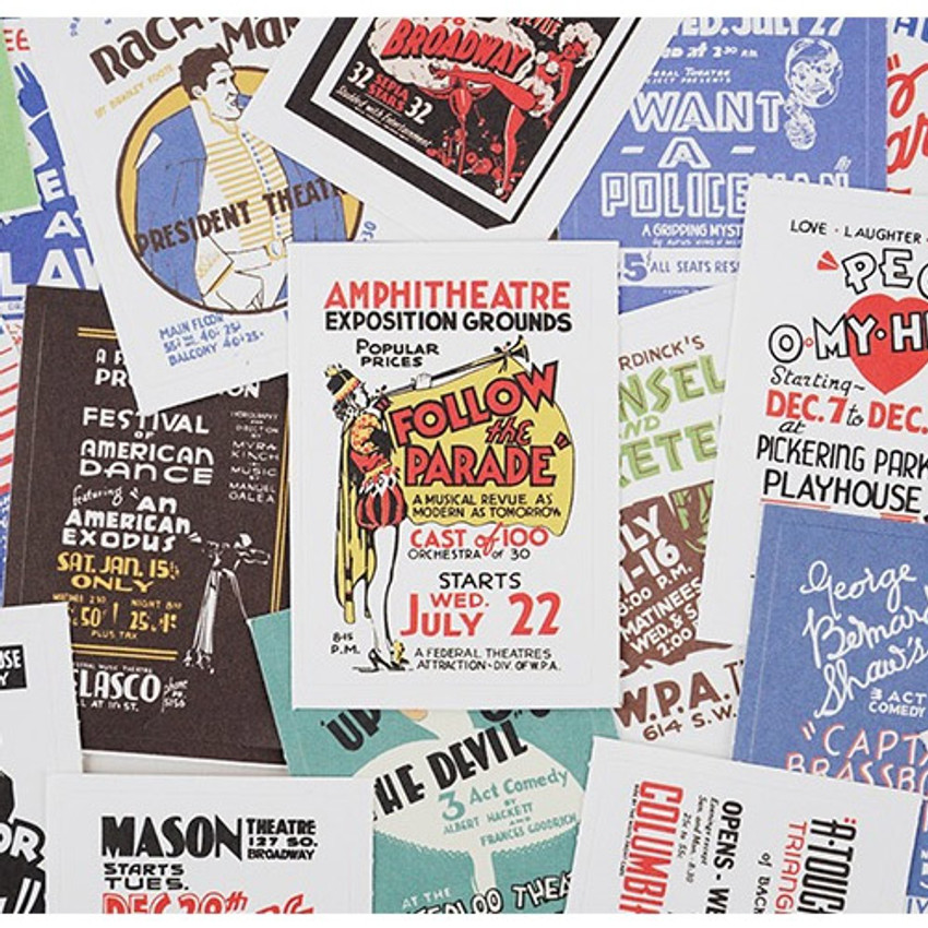 NACOO Vintage 3 label sticker set