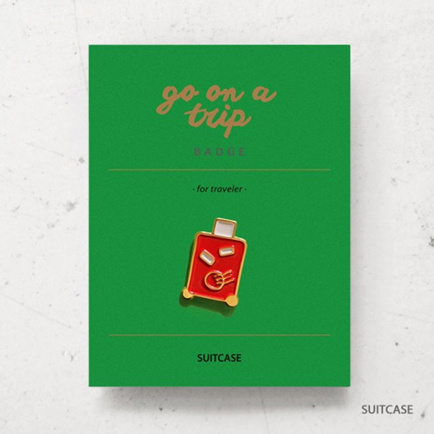 Suitcase - gyou Go on a trip badge