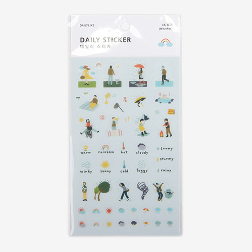 Package for Daily transparent sticker - Weather