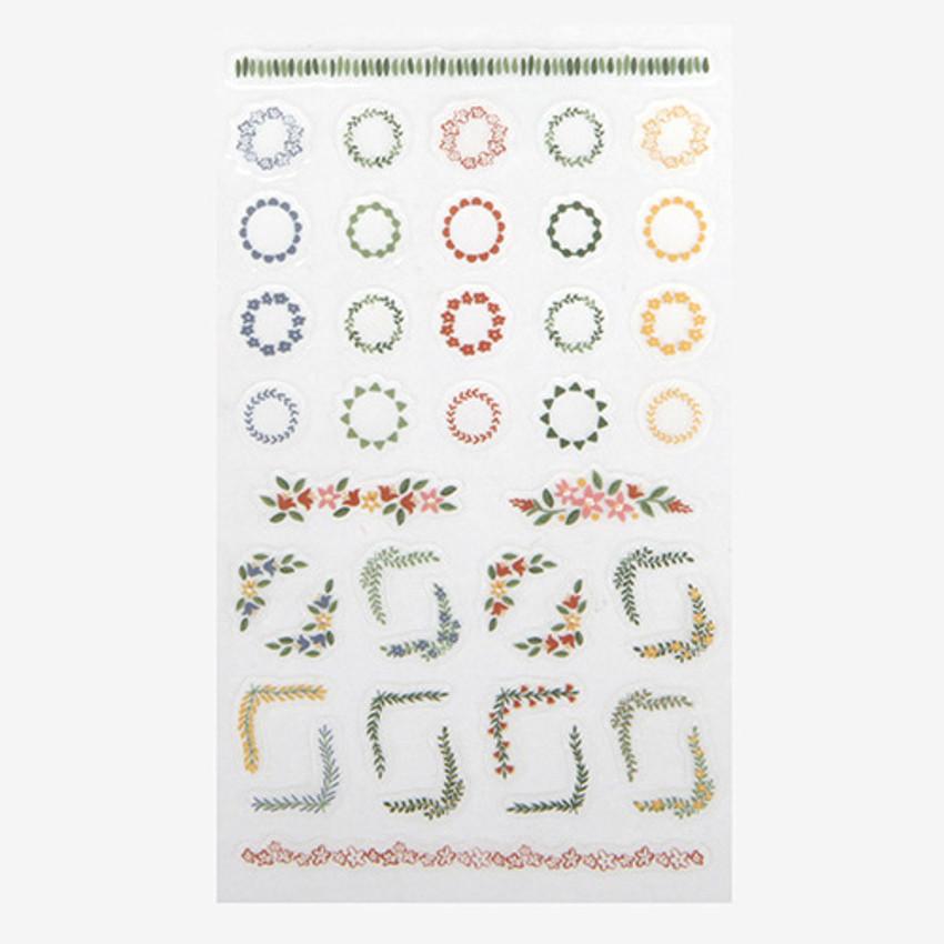 Daily transparent sticker - Flower deco