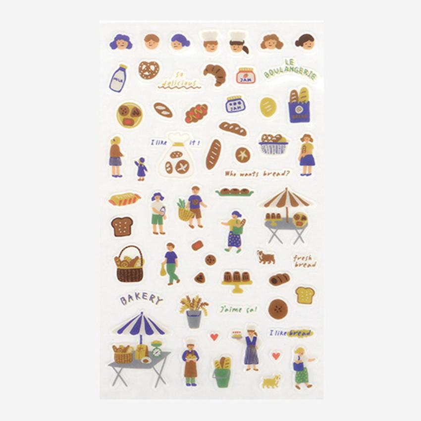 Daily transparent sticker - Bakery ver2