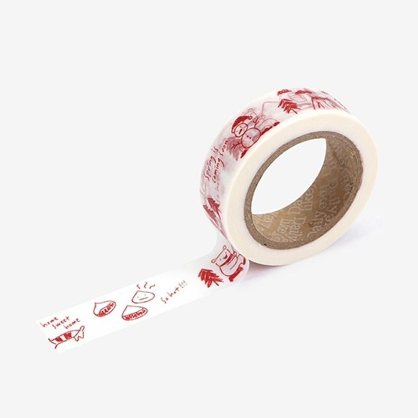 Dailylike Winter diary single roll washi masking tape
