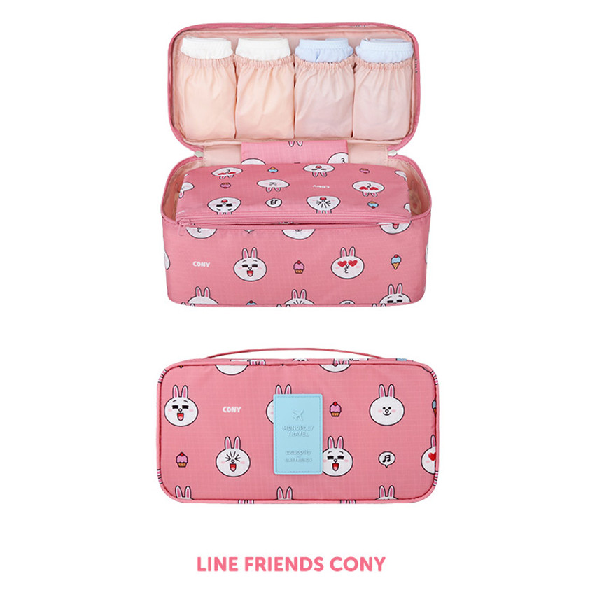 Cony - Line friends travel underwear pouch organizer
