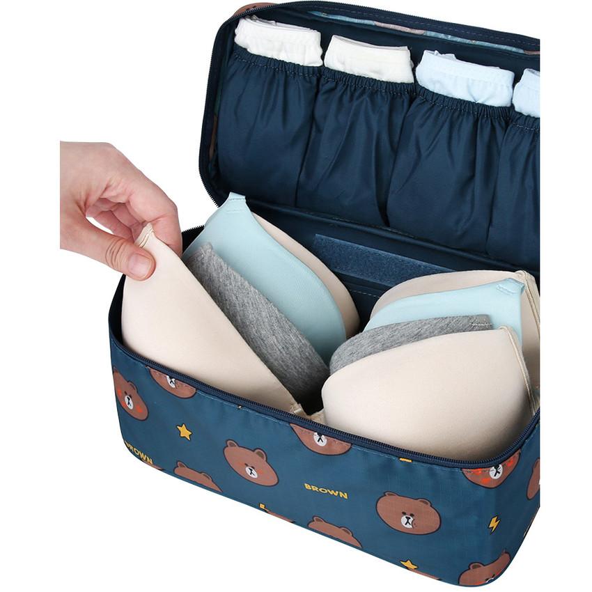 Line friends travel underwear pouch organizer
