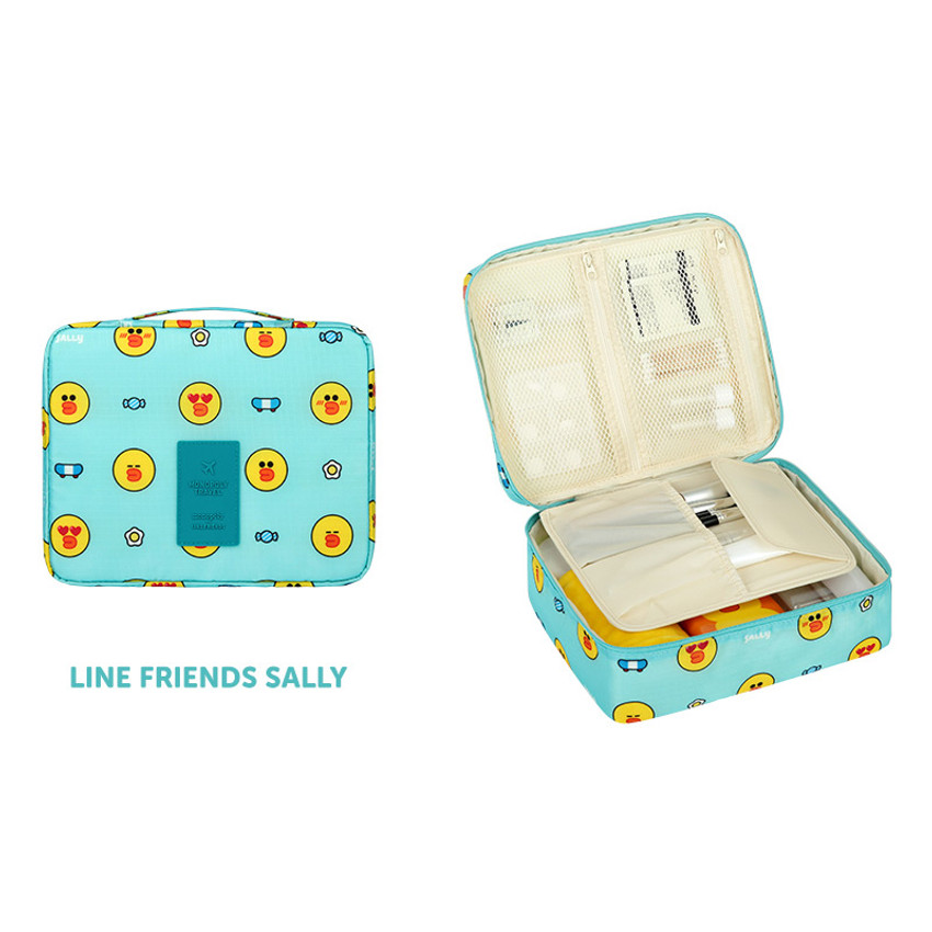 Sally - Line friends travel large multi pouch bag organizer