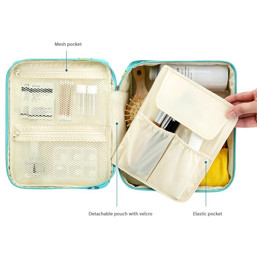 Detail of Line friends travel large multi pouch bag organizer