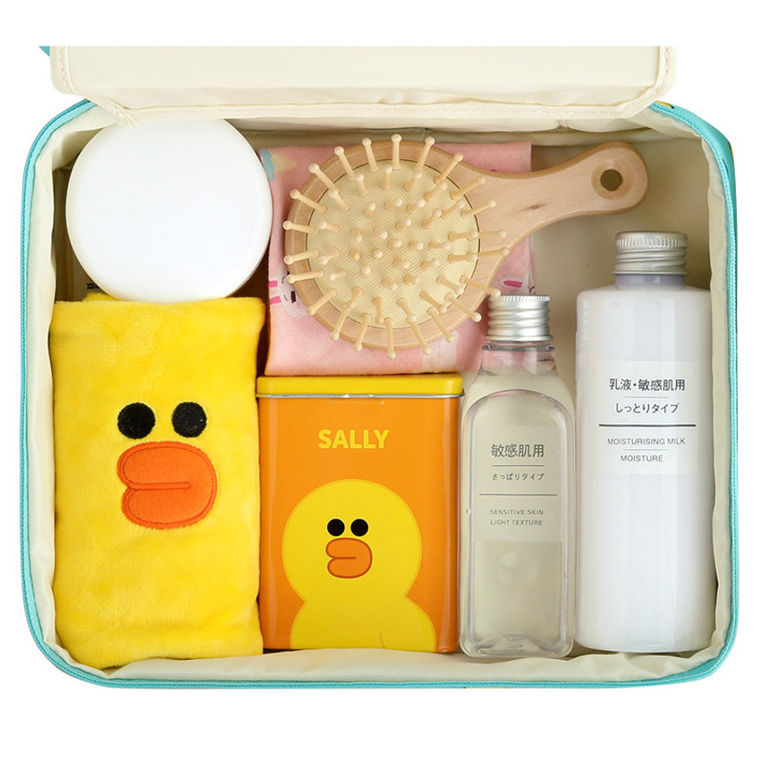 Example of use - Line friends travel large multi pouch bag organizer