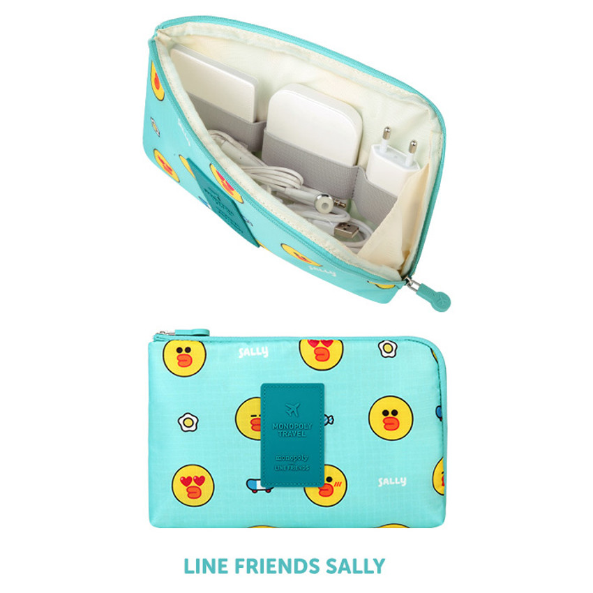 Sally - Line friends half zip around large cable pouch (2018)