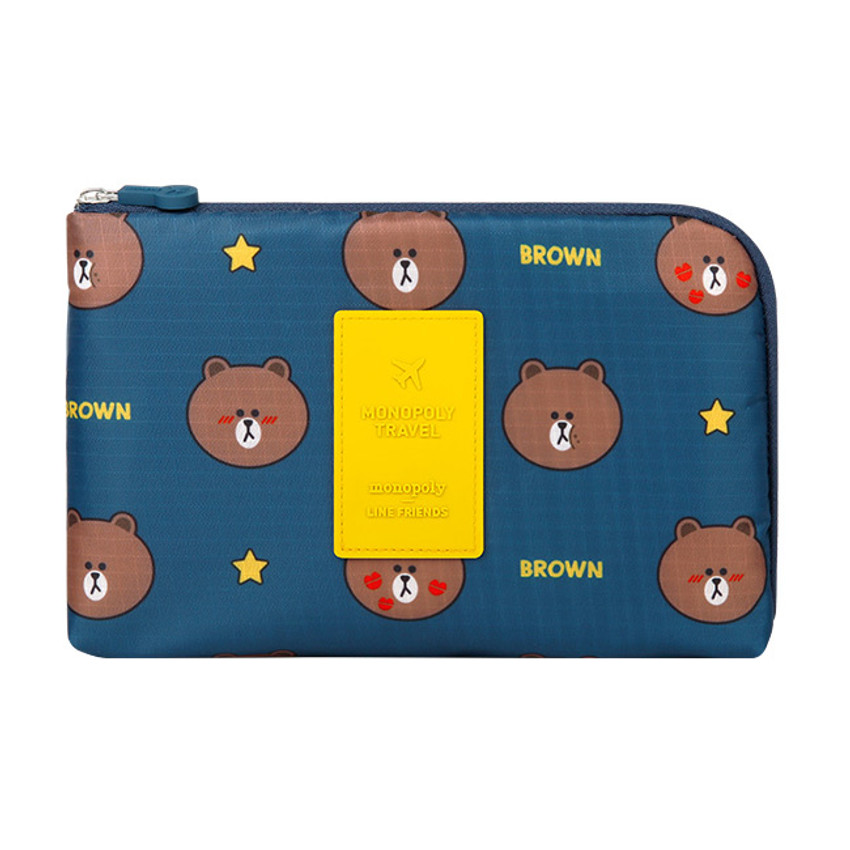 Line friends half zip around large cable pouch (2018)