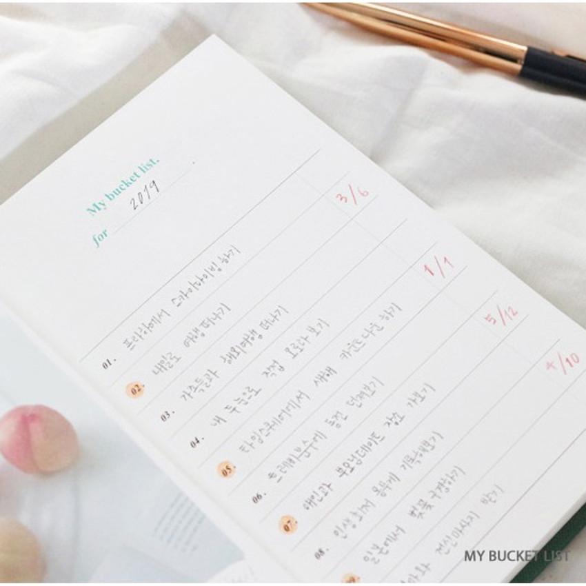 My bucket list - Wanna This Classic journal dateless daily agenda diary