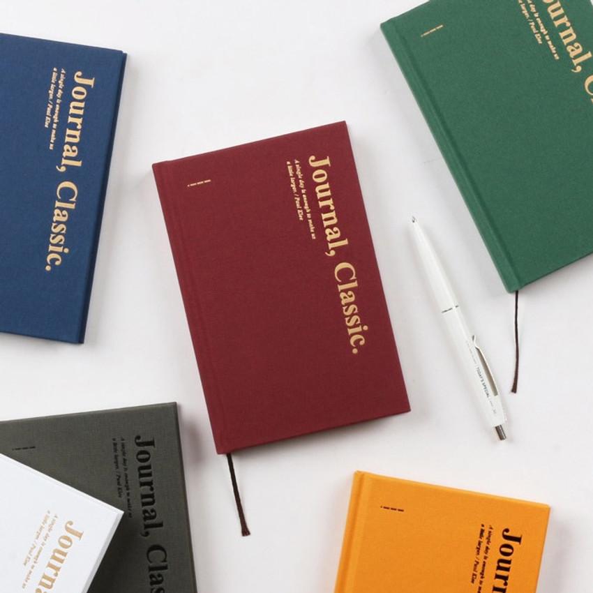 Classic journal dateless daily agenda diary