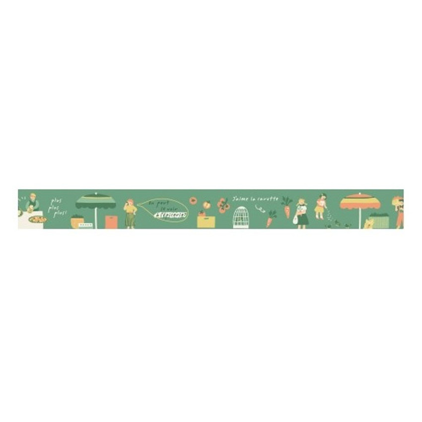 Dailylike Deco 25mm single roll masking tape - Greengrocery store