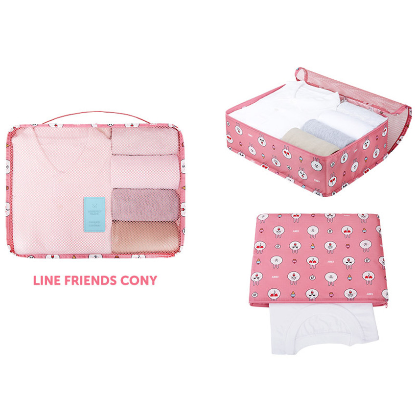 Cony - Line friends large travel packing cube organizer bag (2018)