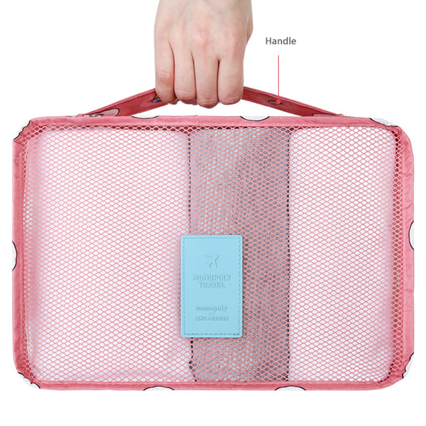 Top handle - Line friends small travel packing cube organizer bag