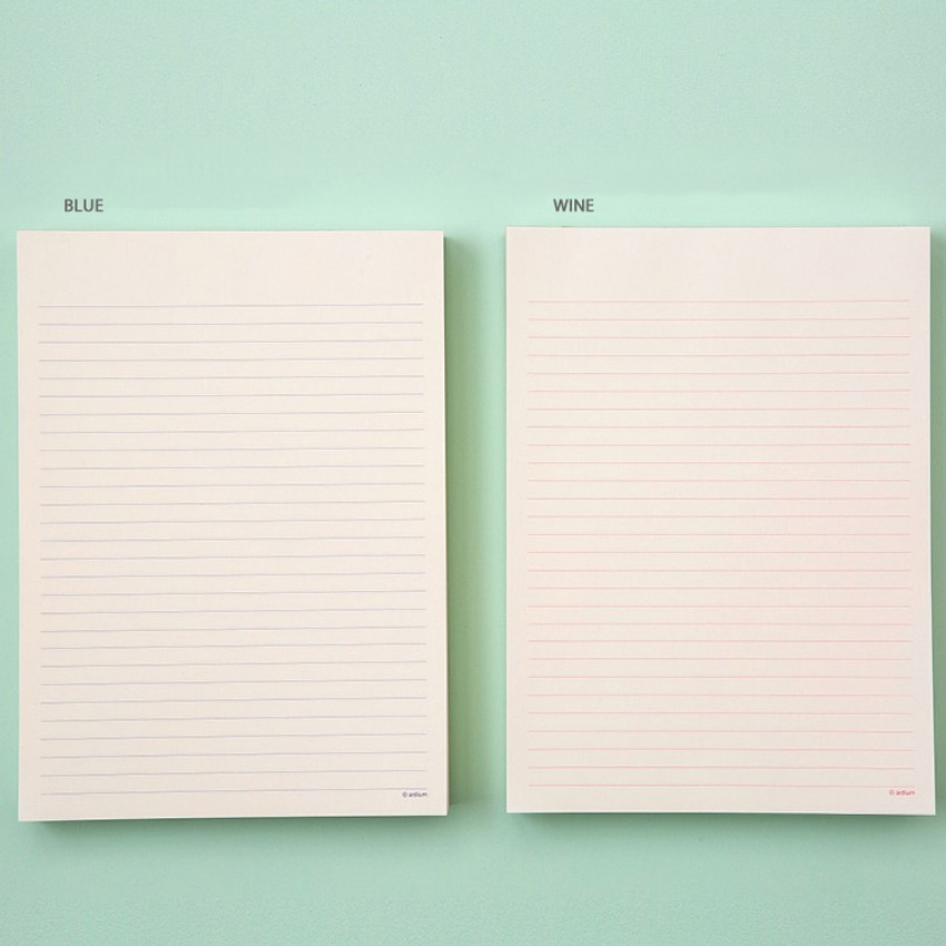 Color - Ardium 200 Sheets lined letter format notepad