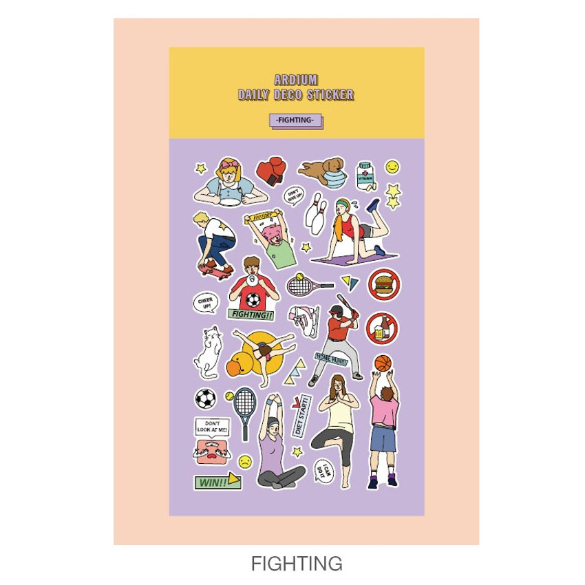 Fighting - Ardium Daily colorful illustration deco paper sticker