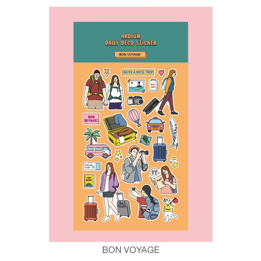 Bon voyage - Ardium Daily colorful illustration deco paper sticker