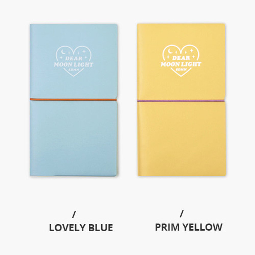 Lovely blue, Prim yellow - Dear moonlight dateless weekly diary
