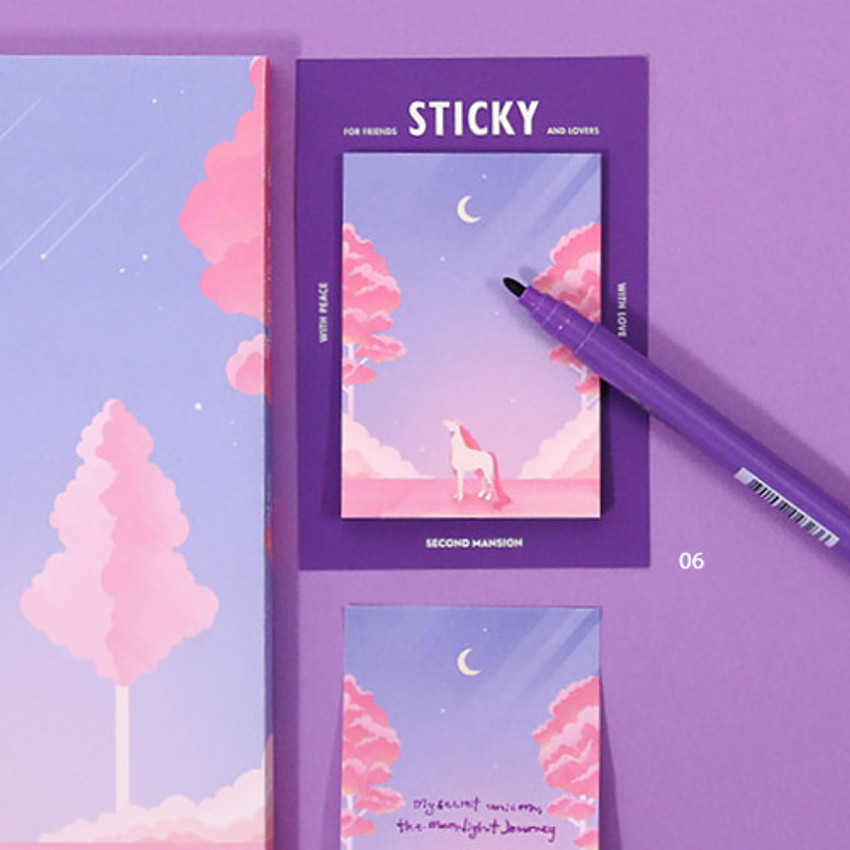 06 - Moonlight sticky it memo note