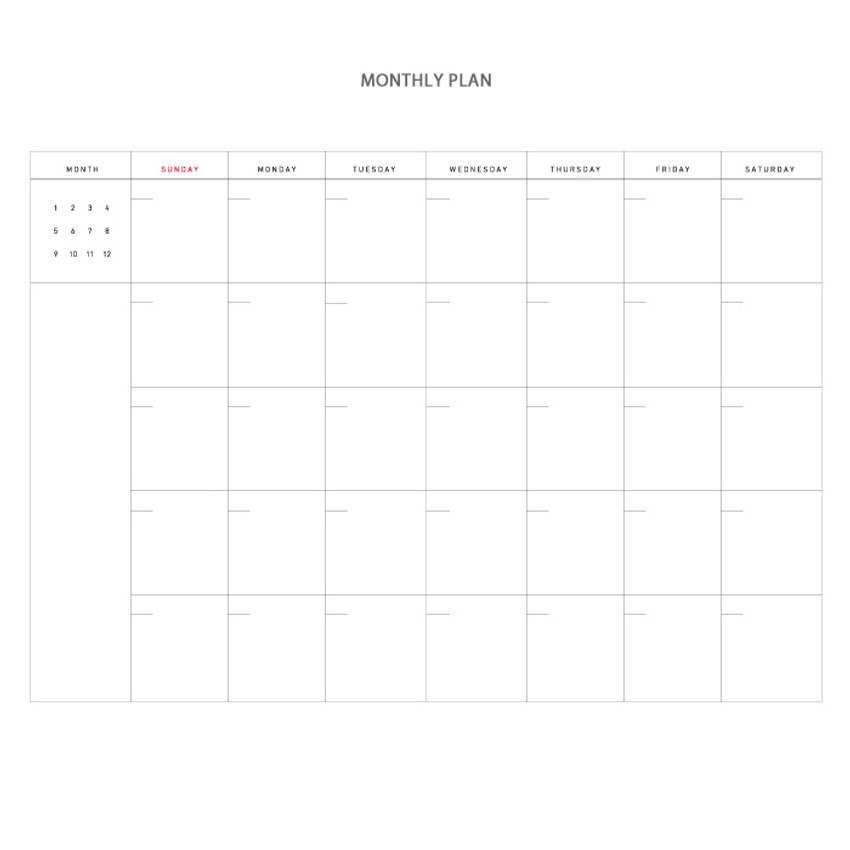 Monthly - Vintage new color dateless weekly journal planner