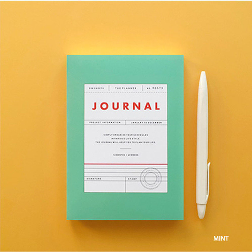 Mint - Vintage new color dateless weekly journal planner