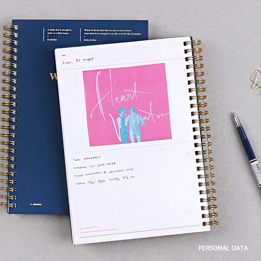 Personal data - Wanna This Classic spiral bound dateless weekly planner