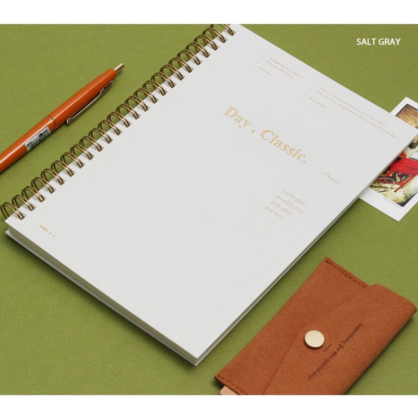Salt gray - Wanna This Classic wire bound dateless daily scheduler
