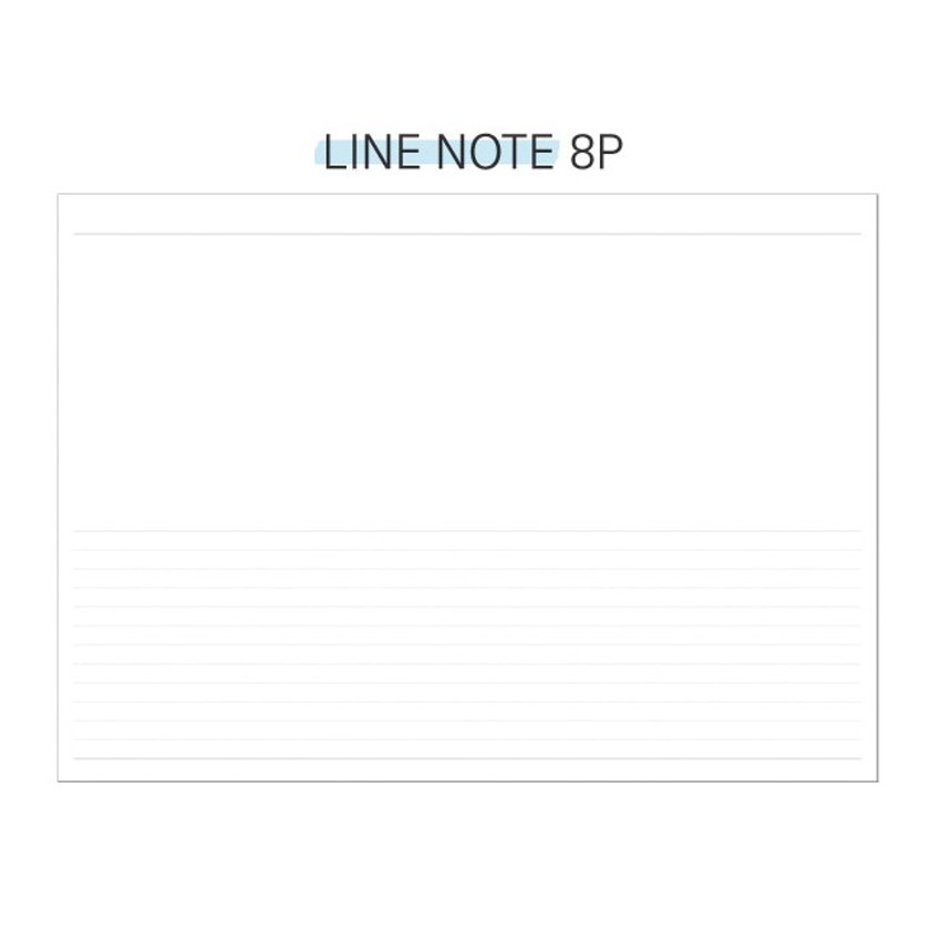 Lined note - Second Mansion Perfume dateless weekly diary planner