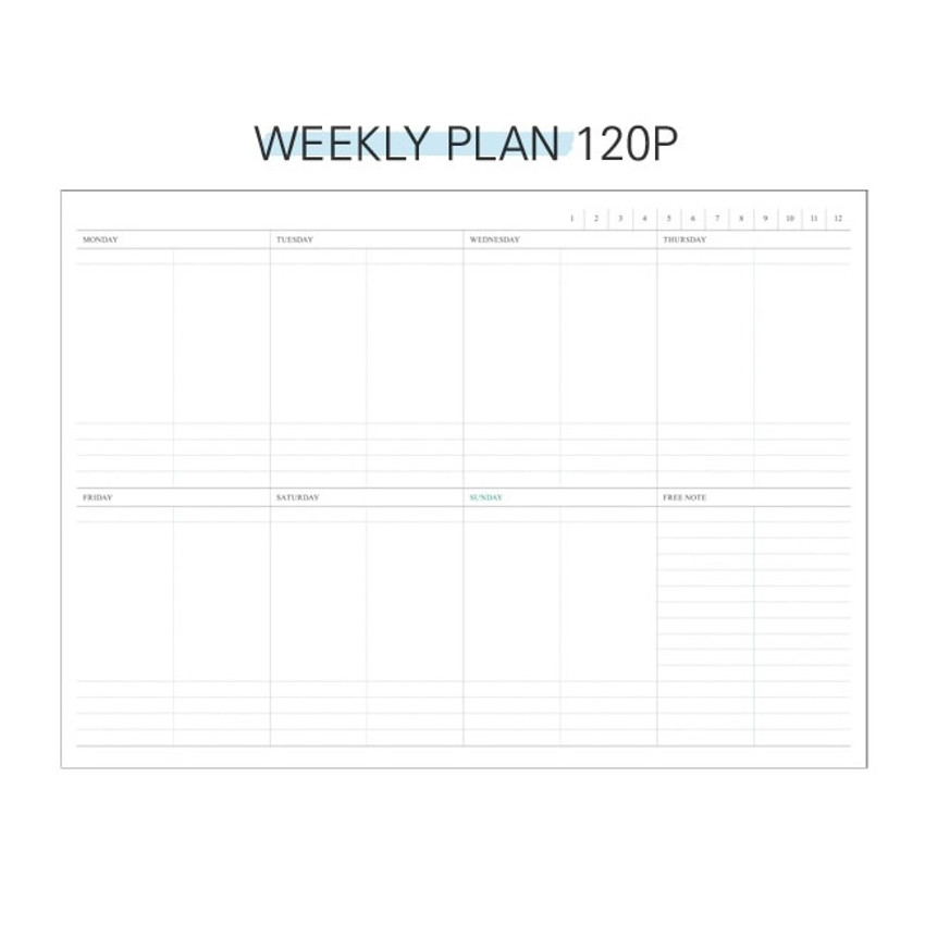 Weekly plan - Second Mansion Perfume dateless weekly diary planner