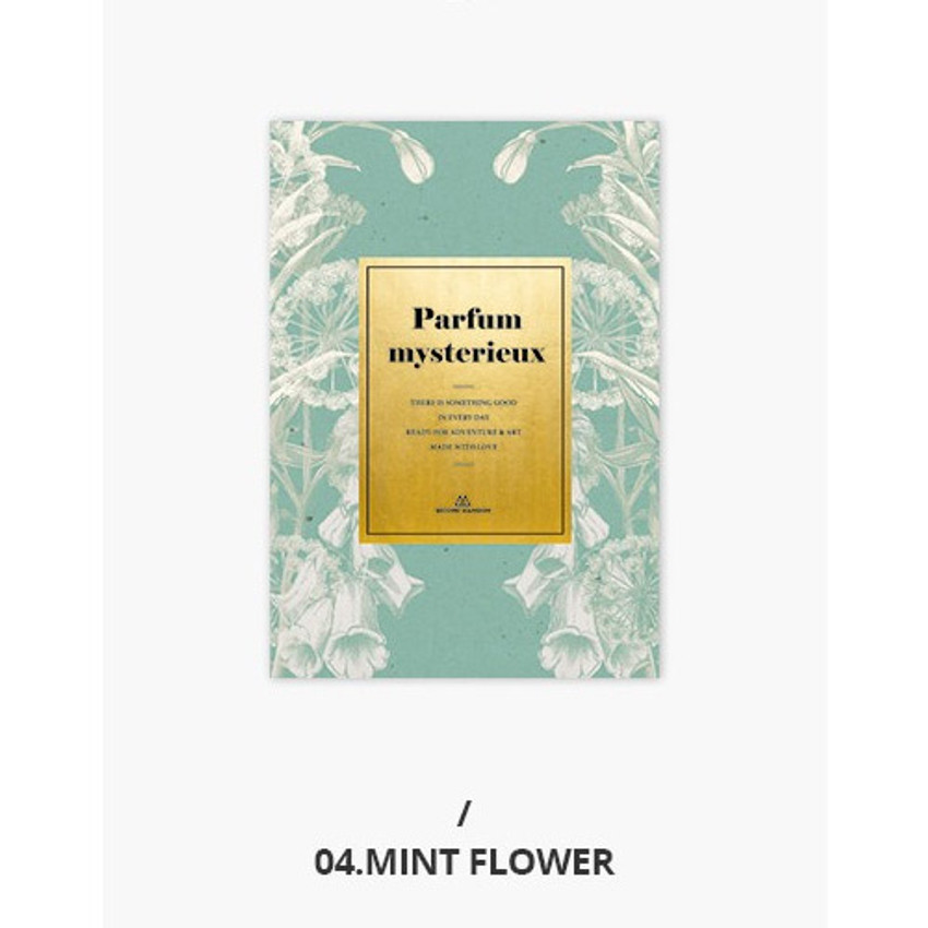 04 Mint flower - Second Mansion Perfume dateless weekly planner