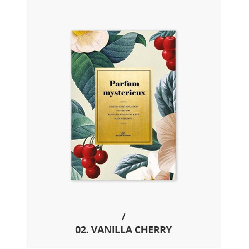 02 Vanilla cherry - Second Mansion Perfume dateless weekly planner