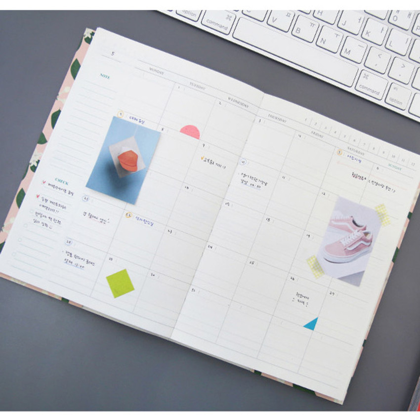 Monthly plan - Perfume dateless weekly diary planner