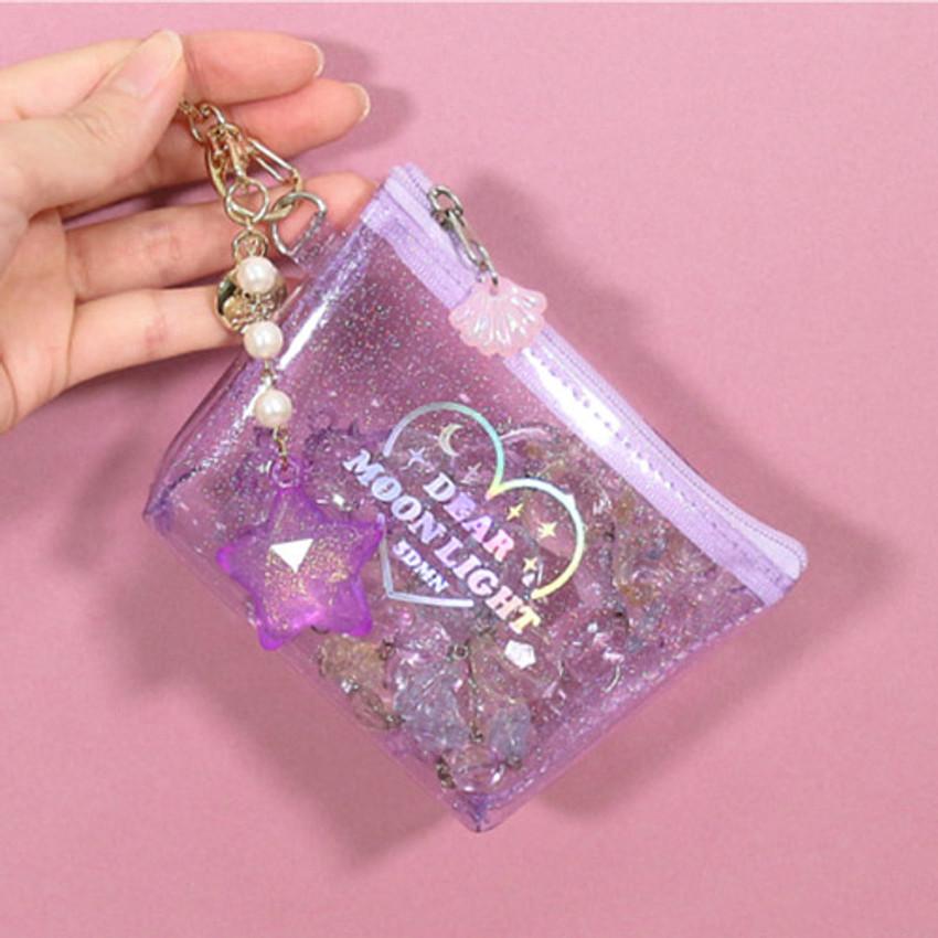 Key ring - Dear moonlight twinkle zipper card case