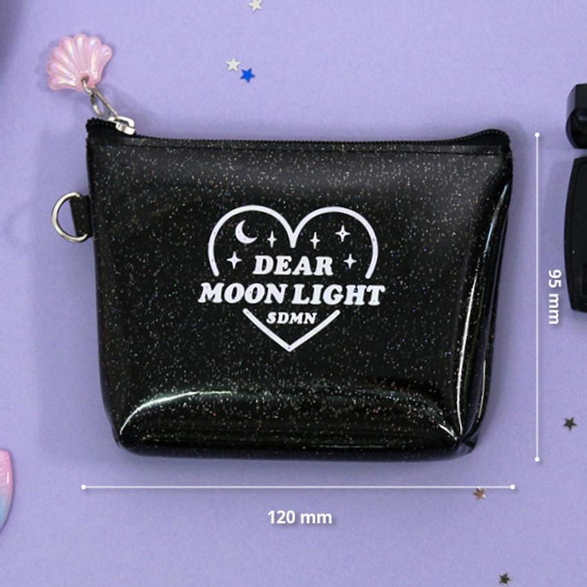 Size - Dear moonlight twinkle zipper card case