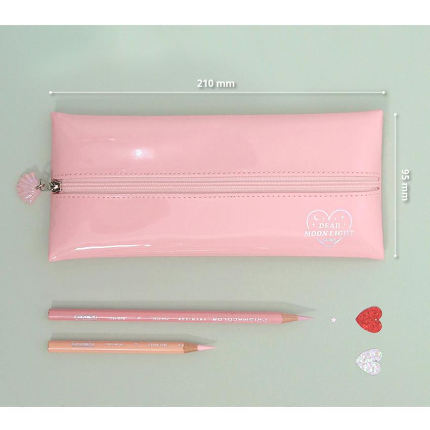 Size - Second mansion Dear moonlight zipper pencil case pouch