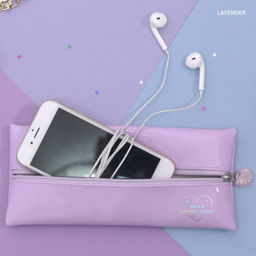 Lavender - Second mansion Dear moonlight zipper pencil case pouch