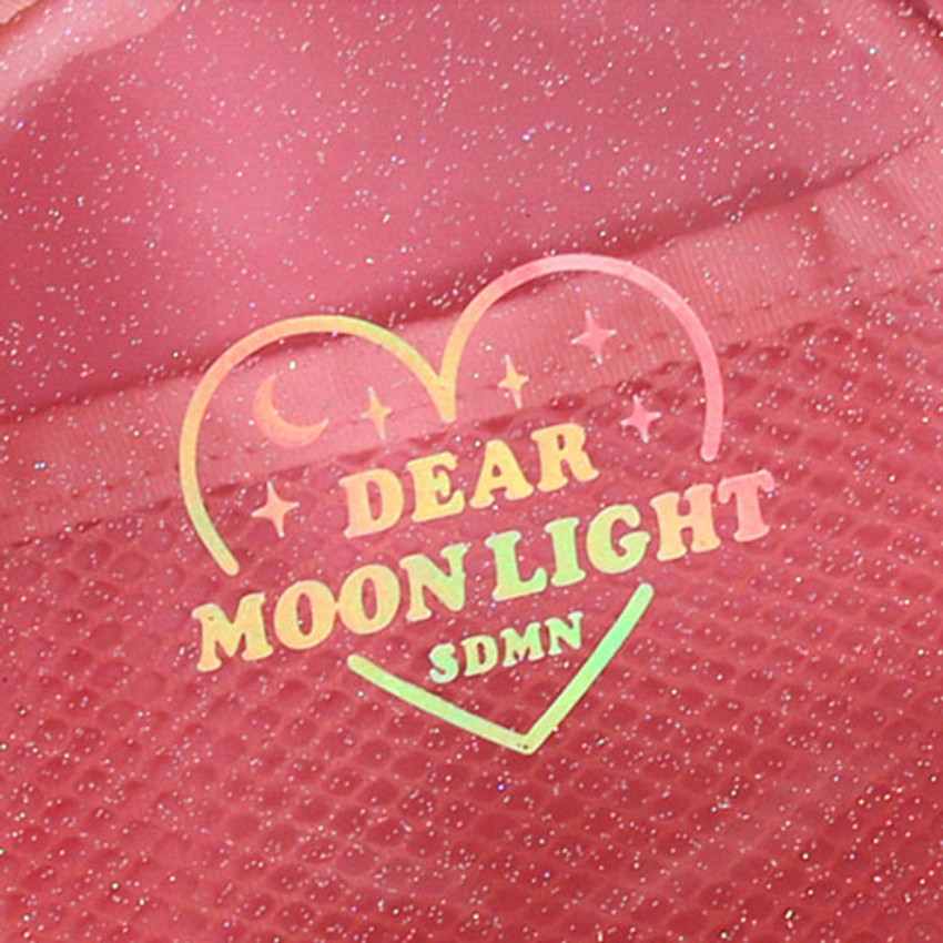 Hologram logo - Dear moonlight twinkle circle zipper pouch