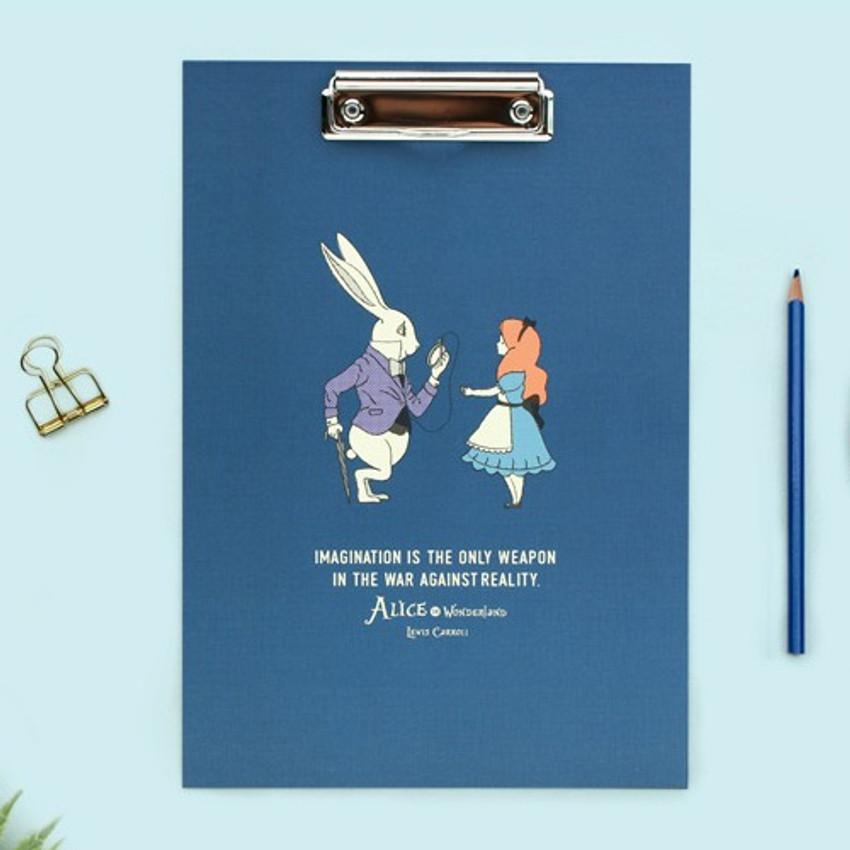 Alice of wonderland - Bookfriends World literature clipboard with low profile clip