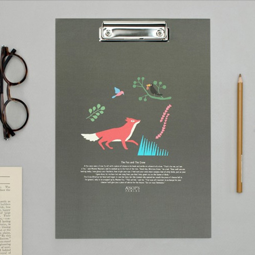 Aesop's Fables - Bookfriends World literature clipboard with low profile clip