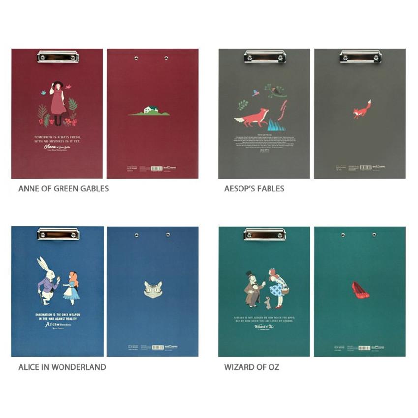 Option - Bookfriends World literature clipboard with low profile clip