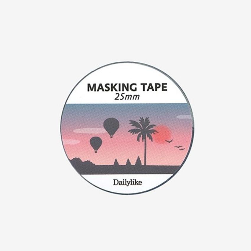 Dailylike Deco 25mm single roll masking tape - Sunset