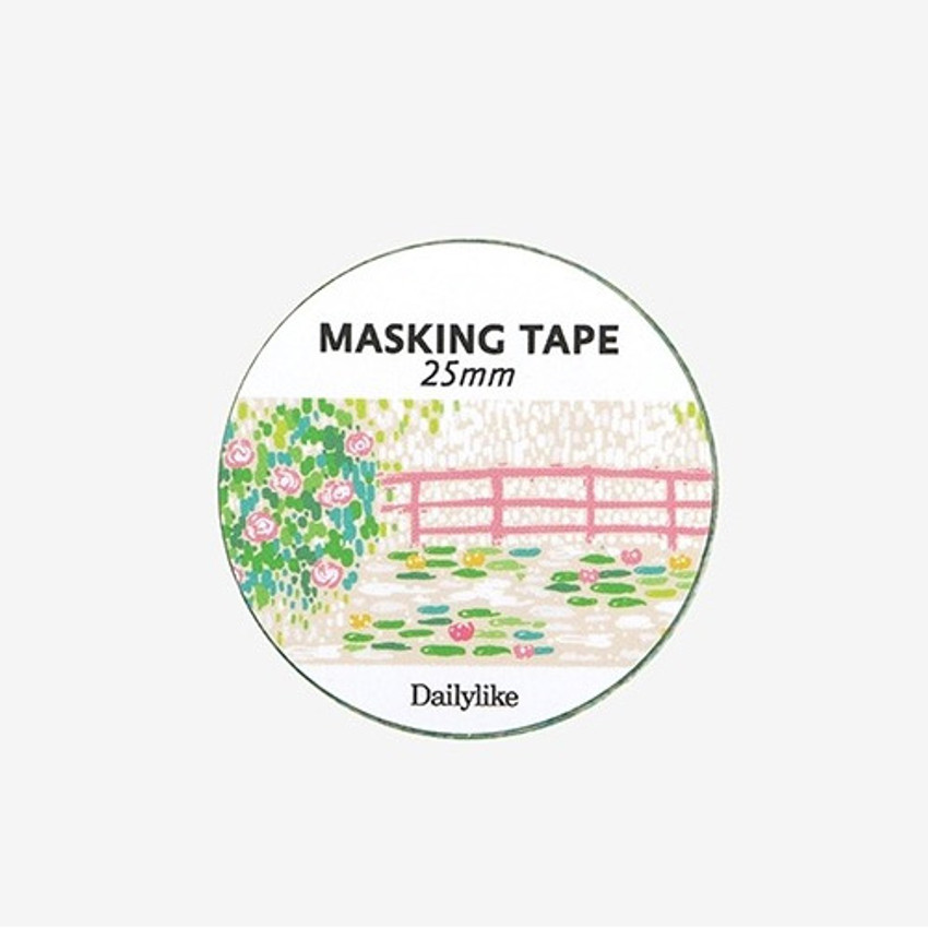 Dailylike Deco 25mm single roll masking tape - Giverny
