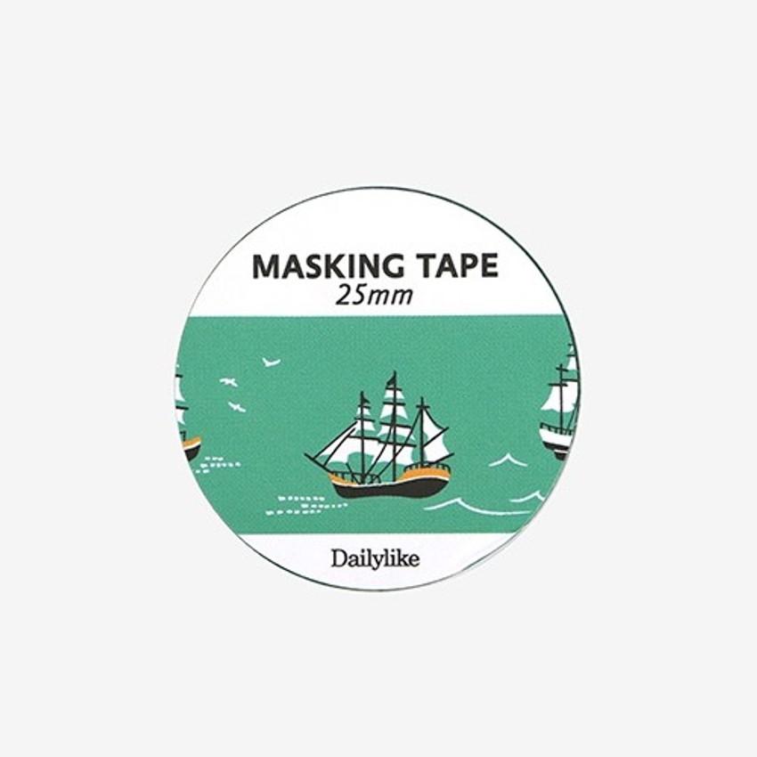 Dailylike Deco 25mm single roll masking tape - Ship